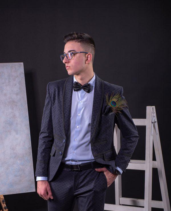 мъжки официален смокинг, мъжко официално сако, мъжка риза, колан естествена кожа, папийонка,аксесоари