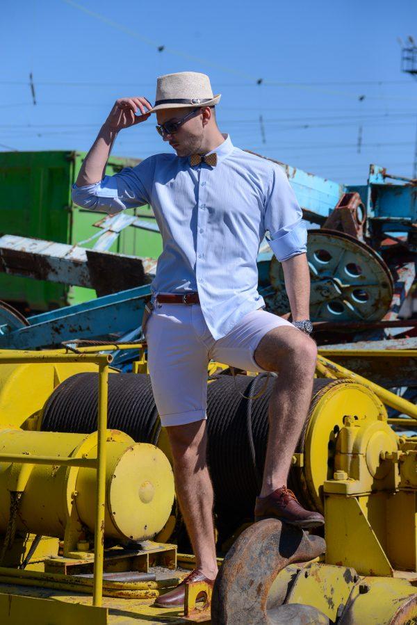 мъжки къси панталони, летни панталони, лято, бели къси панталони