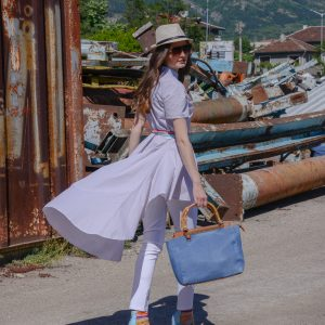 дамски панталон, бял, еластичен, спортно-елегантен