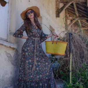 дамска рокля, лятна рокля, рокля на цветя, лято