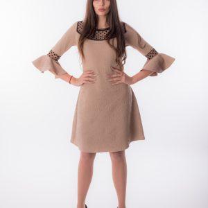 дамска рокля, бизнес, коктейлна, точки, А-линия
